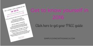 Get to know yourself better in 2016 get your free guide to do just that. Only at SimplyLivingwithJanica.com